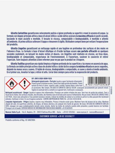 Glicetta Salviettine Detergenti Igienizzanti Superfici e Mani