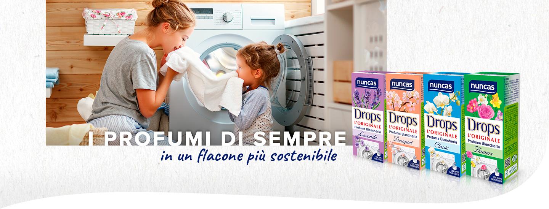 Drops profuma biancheria per lavatrice